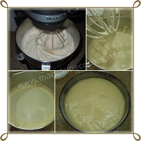 Batiendo los huevos y añadiendo harina