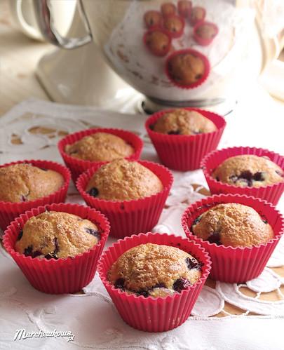 Blue huckleberry muffin, muffinki z borówką amerykańską, babeczki z borówkami, muffiny, przepis, pieczenie