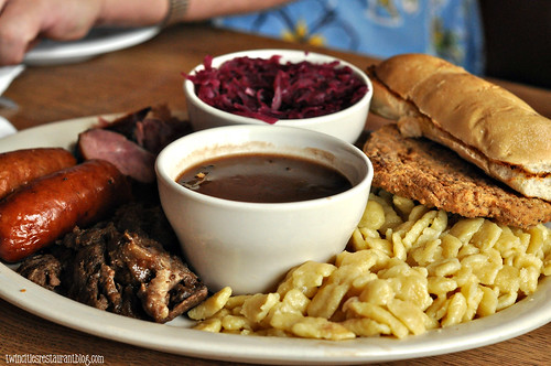 Taste of Deutschland Sampler Platter at Bierstube ~ White Bear Lake, MN