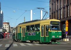 Helsinki City Transport HKL Nr 1-type 2-car tram 58 at Kamppi on 5 Oct 2016 (A Scotson) Tags: nr1 helsinki trams streetcar transport localtransport finland hkl helsinginliikennelaitos raitiovaunu kamppi fredrikinkatu helsinginkaupunginliikennelaitos hklratioliikenne