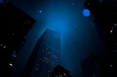 a night (hitotabibito) Tags: nyc blue light sky newyork color night america us manhattan cielo   ricoh nuevayork  gr3