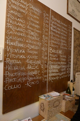 "Vinerie ""Pirona"" Trieste - wine list"
