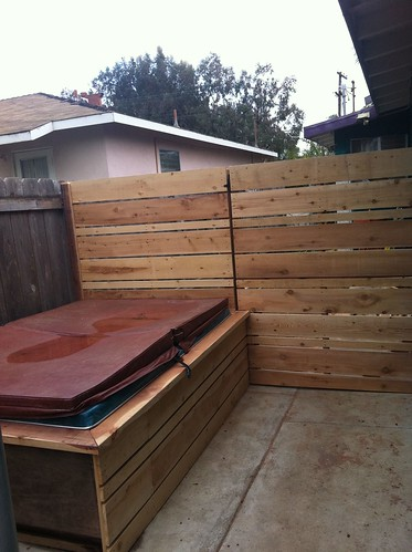 Spa Surround Modern Fence by aliciadesign