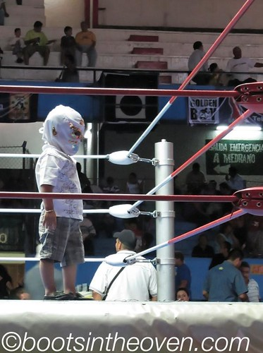 Kiddo in Luchador Mask