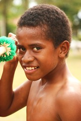 fijian boy (sokratis.kondilis) Tags: fiji islands pacific spear villagelife nativeboy canoneos40d