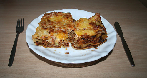 Lasagne al forno - aufgewärmt