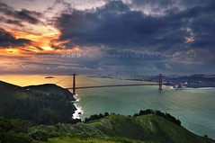 The Clearing Storm (pdxsafariguy) Tags: sanfrancisco california bridge skyline clouds sunrise bay suspension marin pylon hills goldengate tomschwabel nationalrecreationarea