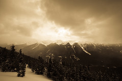 Mountain Glory (djking) Tags: sky canada mountains clouds alberta banff sulfermountain