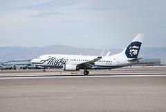 Alaska 737-700 N615AS (rye man) Tags: las vegas blue sky usa sun alaska airplane march spring airport lasvegas aircraft nevada klas 737700 lasvegasnevada 2011 lasvegasairport n615as