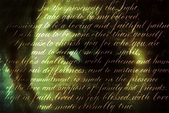 Screyept (Walt Stoneburner) Tags: abstract eye art texture girl writing handwriting amber photo image grunge text stock grain creative free commons license mystical grainy calligraphy script vow