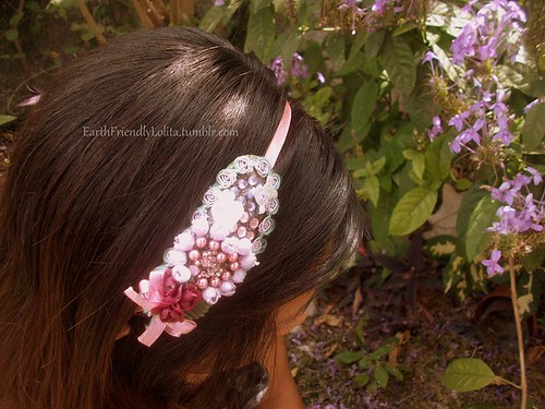DIY Headband made out of mussel shell