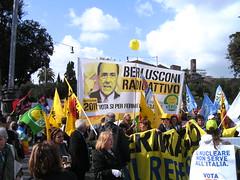 Rom 26.03.2011: Demo zum Referendum gegen die Wasserprivatisierung, den Bau von AKW und das Immunitätsgesetz für Berlusconi
