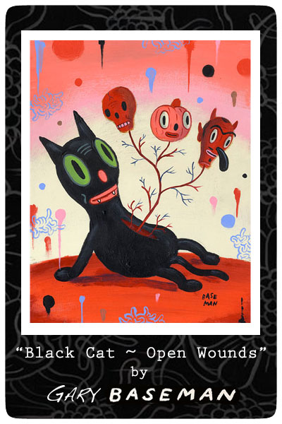 Gary-Baseman-Black-Cat-Open-Wounds