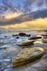 24 Karat (Didenze) Tags: sky clouds sunrise canon reflections golden rocks glow sanclemente hdr 450d didenze