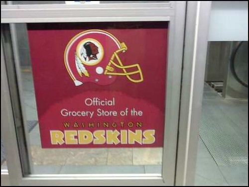 Redskins sign at Harris Teeter