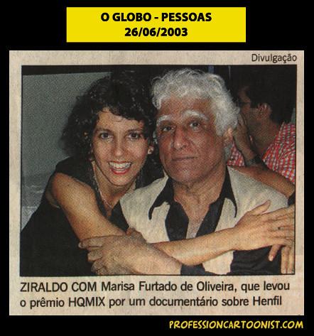"""""""Ziraldo com Marisa Furtado"""" - O Globo - 26/06/2003"""