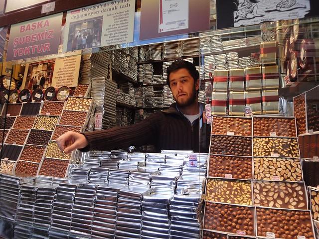 Loja de chocolate na Avenida Istiklal Istambul
