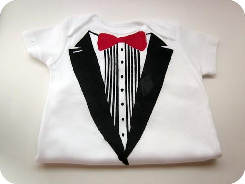 Baby boy tux shirt