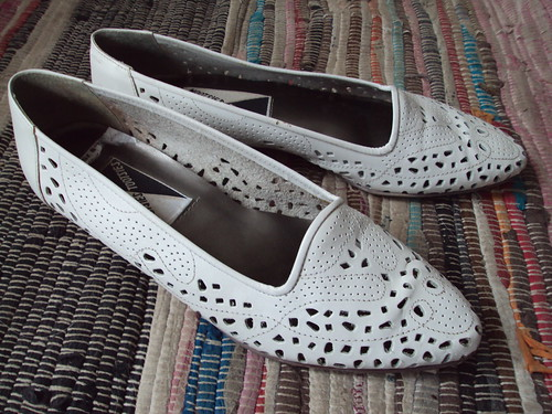 White Cutout Shoes