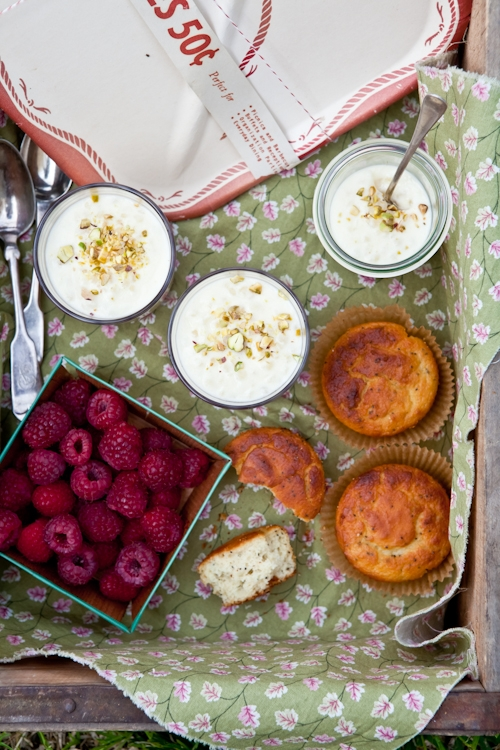Tapioca Puddings & Lemon Poppy Seed Muffins