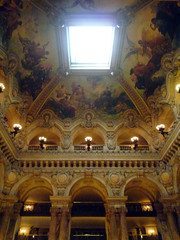 Garnier's Paris Opéra, Grand Stair Ceiling with Paintings by Pils