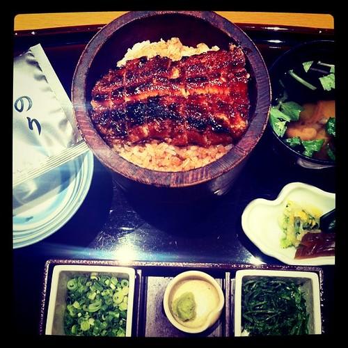 Dinner 4/15 まるやのひつまぶし。美味しゅうございます!