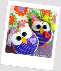 Little Cute Owls (Sil Artesanato) Tags: cute felt owl coruja feltro owls corujas fieltro