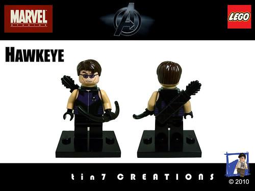 Custom minifig 16 - Hawkeye - UPDATED
