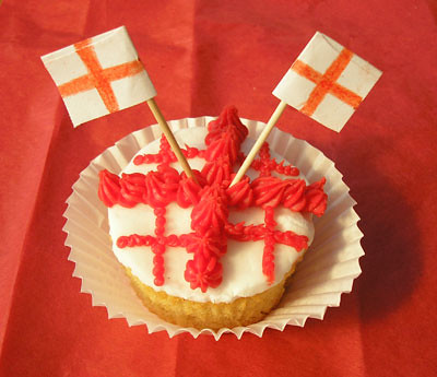 5626591439 569ae4b7fe St George's Day Cupcakes – Dragon Fighting Patron Saint of England