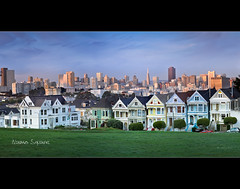 Painted Ladies - Alamo Square - San Francisco - CA (Dominique Palombieri) Tags: sanfrancisco california city usa canon landscape cityscape pano l dominique f80 2011 fav10 24105mm 250iso palombieri