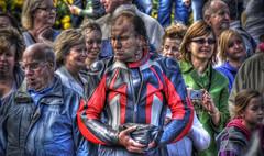 Tranny Rally (Darren C Miller) Tags: uk people nikon bradford britain yorkshire rally crowd harley harleydavidson transvestite biker dslr hdr baildon nikond200