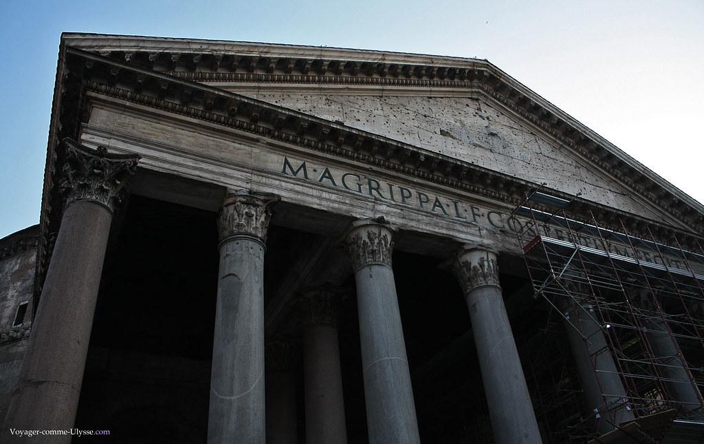 Fronton et entablement du Panthéon