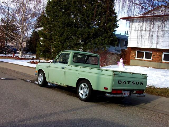 green classic truck 1600 520 datsun