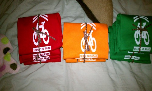 "Kelly Thompson's ""Share the Road"" shirts for USC preschool"