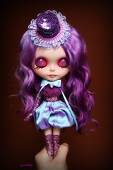 ~ Cleo Loves the Circus ~ (GBaby - super busyyyy) Tags: outfit doll handmade circus lace ooak blingbling willow mohair glam blythe everything custom cleo sequins 53 winsome rbl gbaby