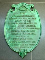 Photo of Henrietta green plaque