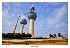 Kuwait Towers III (Damon | Photography) Tags: city sky cloud blur building tower clouds landscape nikon towers sigma kuwait mm build 1020mm polarizer 1020 damon 77 72 circular circularpolarizer hoya q8 clp architacture kuwaittowers 77mm d90 kuwaittower hoyacircularpolarizer nikond90 architactures