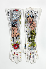 """God Is.."" (Ellen Greene) Tags: tattoo vintage gloves devil mermaid pinup clippership"