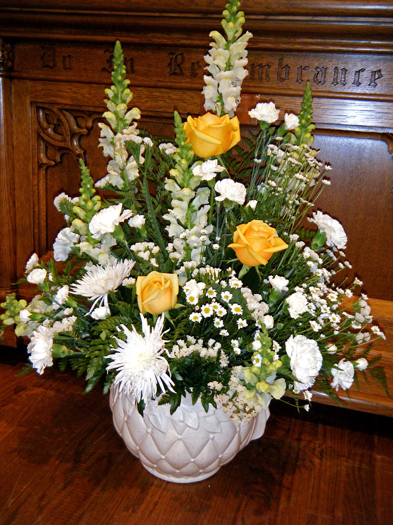 April 24-2011 Easter Flowers in Church