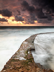 Slippery Path (CResende) Tags: sunset sea seascape portugal clouds waves path sintra edge slippery azenhasdomar cresende gettyimagesiberiaq2