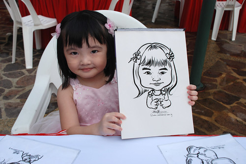 caricature live sketching for birthday party 16042011 - 2