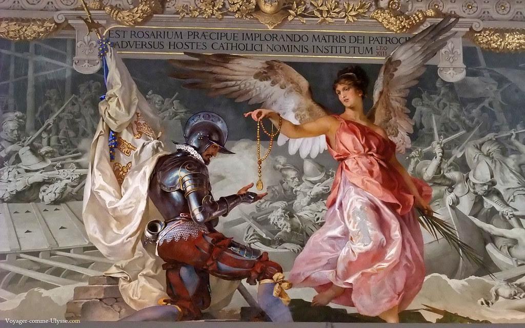 Fresque du plafond de la Galerie des Candélabres, par Ludwig Seitz