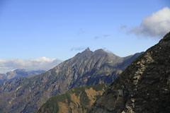 西穂-間ノ岳から見える槍ヶ岳