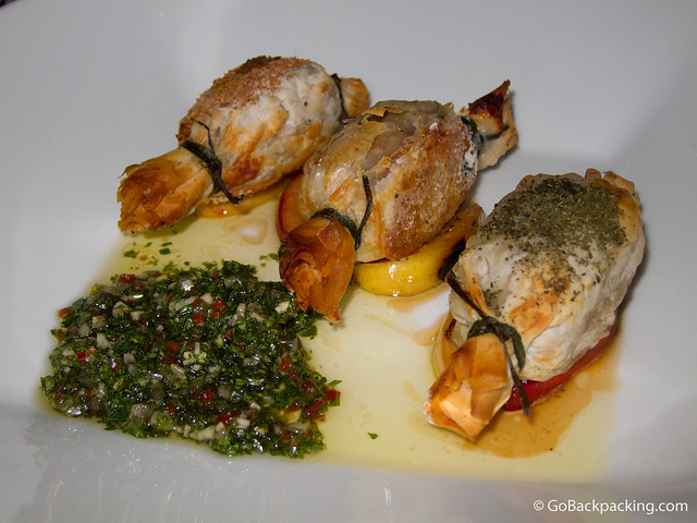 Chorizo Argentino with chimichurri sauce