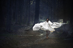 . (londonscene) Tags: new york white girl gabi mystery forest canon fun 50mm fabric akron