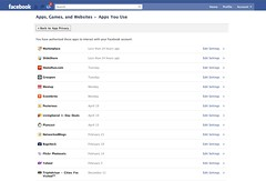 Facebook: Remove applications