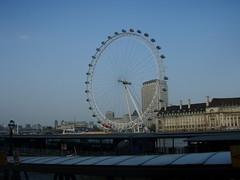 View of the London Eye from across the Thames (a3rynsun) Tags: london eye wheel thames river londoneye ferris