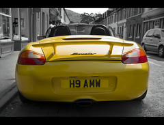 Boxster: For Hire (_K5_1420) ([Rossco]:[www.rgstrachan.com]) Tags: nature car yellow scotland town wildlife perthshire reserve porsche dunkeld boxster hire lochofthelowes scottishwildlifetrust worldcars