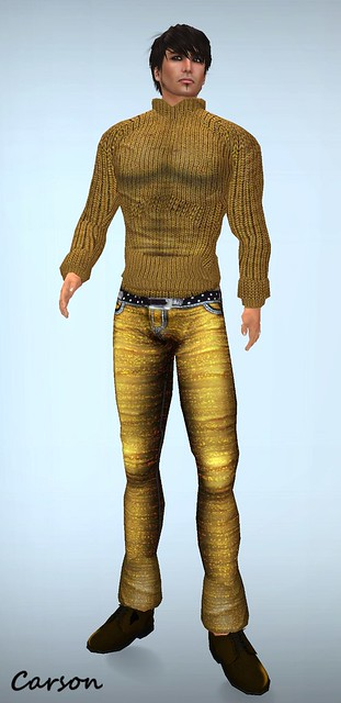 Reila Skins - Orange Sweater and Jeans ($0L) Group Gift