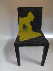 Chair made of second-hand t-shirts